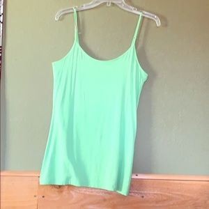 Lime green tank top
